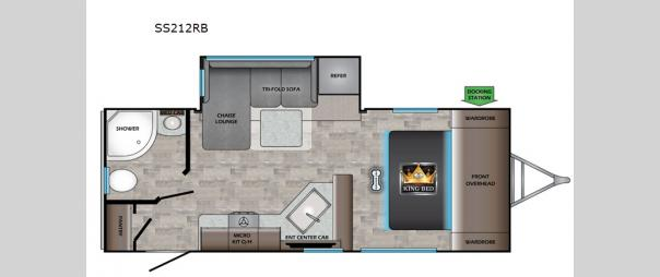 Sunset Trail Super Lite 212RB Floorplan