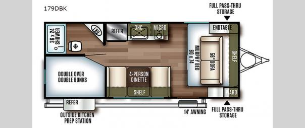 Wildwood FSX 179DBK Floorplan