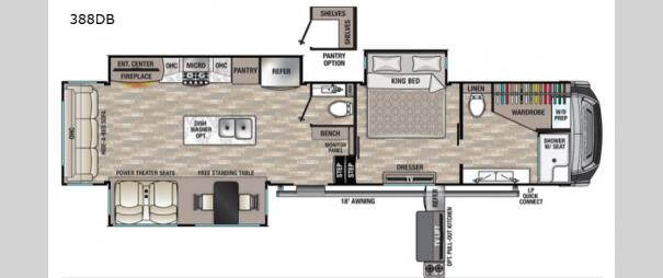 Cedar Creek 388DB Floorplan