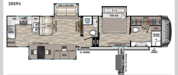 Cedar Creek 388RK Floorplan