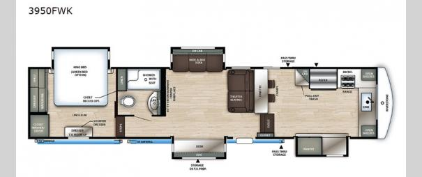 RiverStone Reserve Series 3950FWK Floorplan