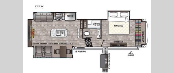 Cedar Creek Silverback 29RW Floorplan
