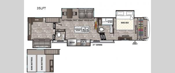 Cedar Creek Silverback 35LFT Floorplan