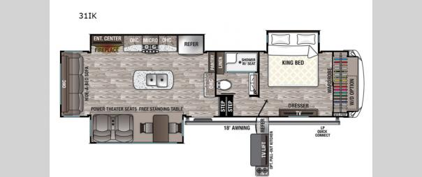 Cedar Creek Silverback 31IK Floorplan