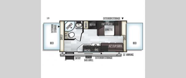 Rockwood Roo 19 Floorplan
