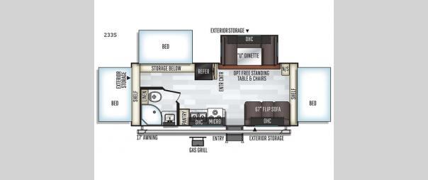 Rockwood Roo 233S Floorplan