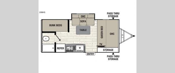 Freedom Express Pilot 20BHS Floorplan