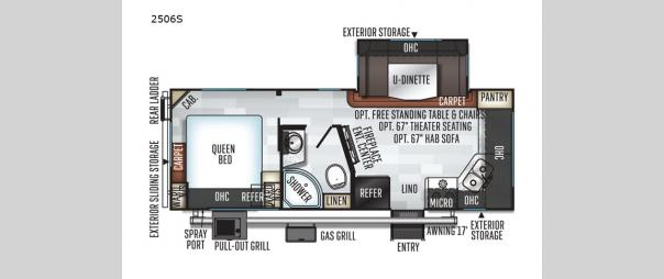 Rockwood Mini Lite 2506S Floorplan