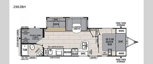 Spirit Ultra Lite 2963BH Floorplan