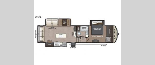 Montana High Country 305RL Floorplan