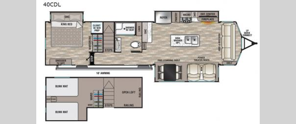 Cedar Creek Cottage 40CDL Floorplan