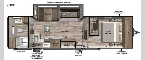 Vibe 28RB Floorplan