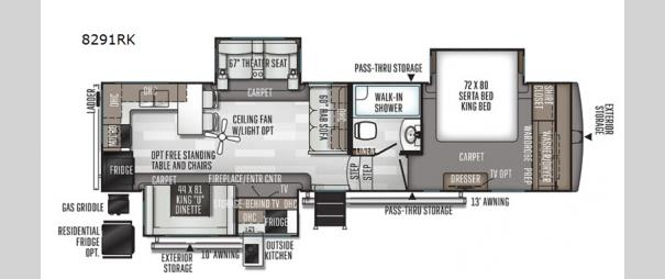 Rockwood Signature Ultra Lite 8291RK Floorplan