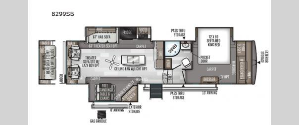 Rockwood Signature Ultra Lite 8299SB Floorplan