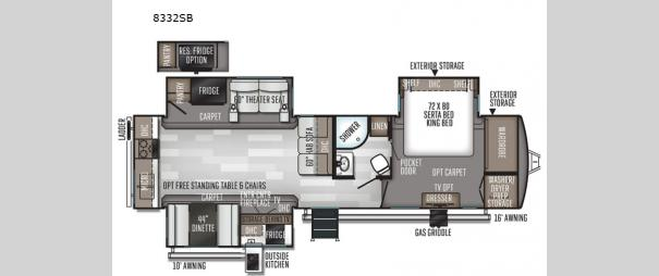 Rockwood Signature Ultra Lite 8332SB Floorplan