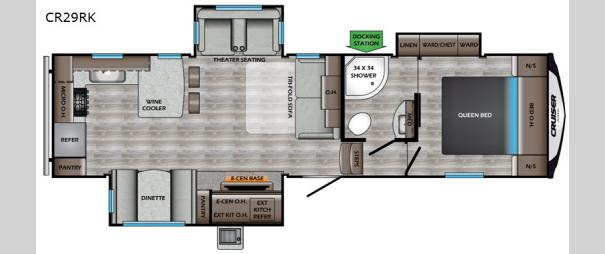 Cruiser Aire CR29RK Floorplan