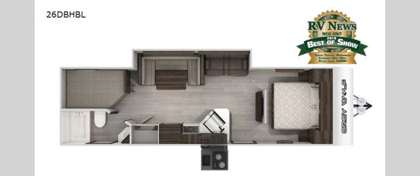 Cherokee Grey Wolf Black Label 26DBHBL Floorplan