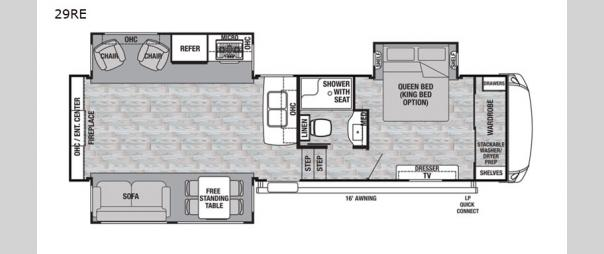 Cedar Creek Silverback 29RE Floorplan