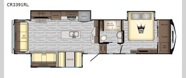 Cruiser CR3391RL Floorplan