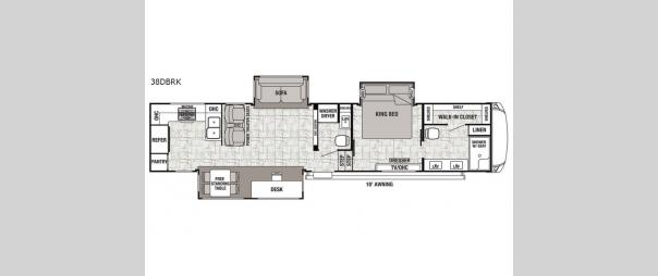 Cedar Creek Hathaway Edition 38DBRK Floorplan