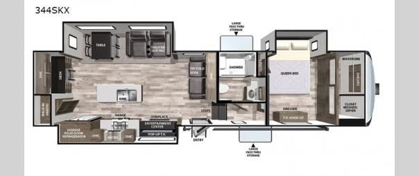 Cardinal Luxury 344SKX Floorplan