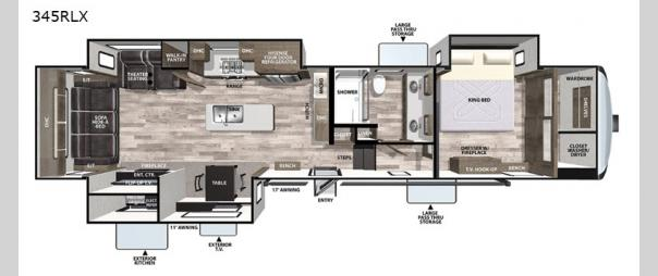 Cardinal Luxury 345RLX Floorplan