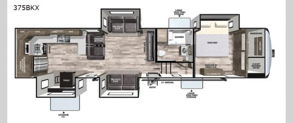 Cardinal Luxury 375BKX Floorplan