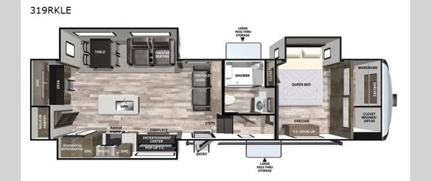 Cardinal Limited 319RKLE Floorplan