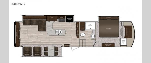 Sanibel 3402WB Floorplan
