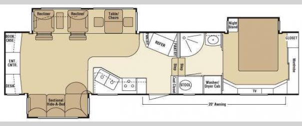 Escalade 37REB Floorplan