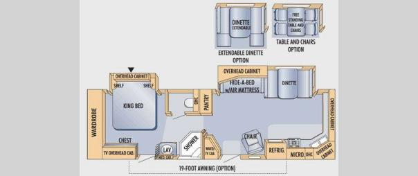 Eagle 322FKS Floorplan
