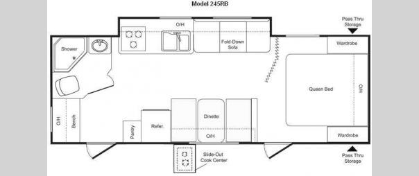 Passport 245RB Floorplan