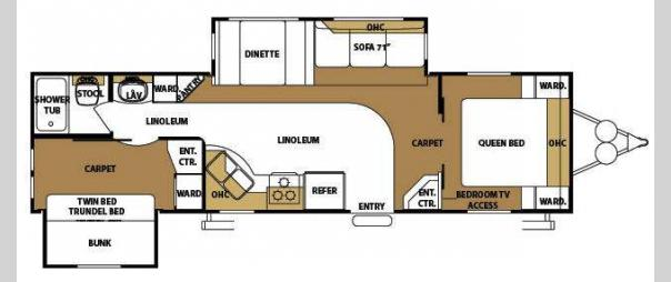 Used 2009 Forest River Rv Sandpiper 302bhd Travel Trailer
