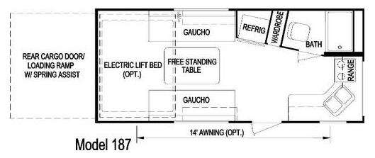 Trailrider 187 Floorplan