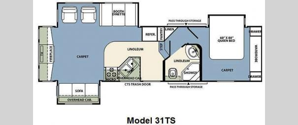 Wildcat 31TS Floorplan