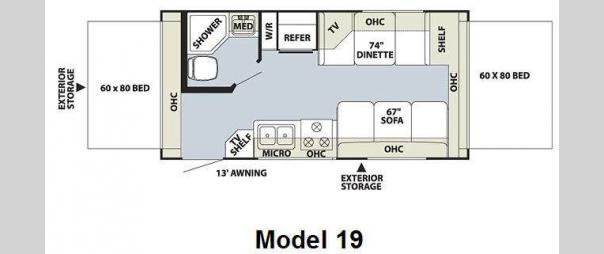 Flagstaff Shamrock 19 Floorplan