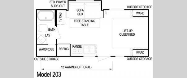 Nomad Joey 203 Floorplan