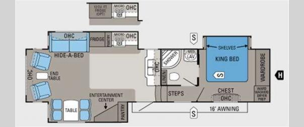 Pinnacle 34RLTS Floorplan
