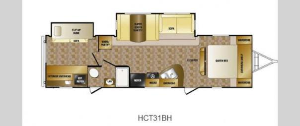 Hill Country 31BH Floorplan