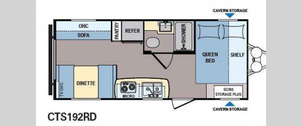 Coleman Expedition CTS192RD Floorplan