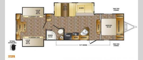 Sunset Trail Reserve ST32FR Floorplan