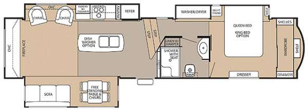 Cedar Creek 38RE Floorplan