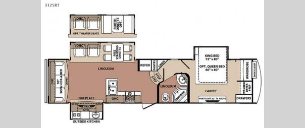 Blue Ridge 3125RT Floorplan