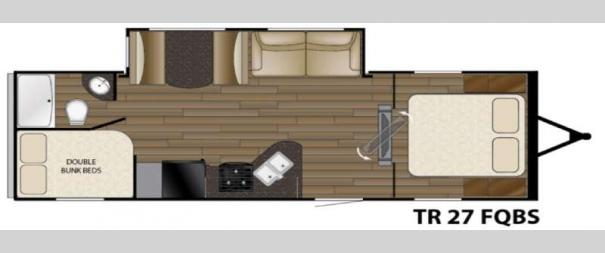 Trail Runner 27FQBS Floorplan