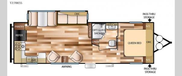 Wildwood 27RKSS Floorplan