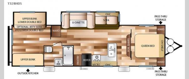 Wildwood 32BHDS Floorplan