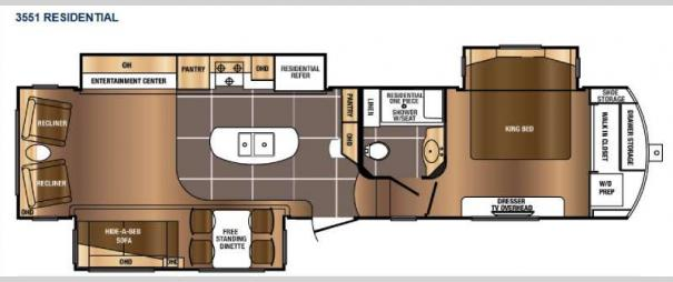 Sanibel 3551 Floorplan