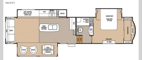 Cedar Creek 36CKTS Floorplan