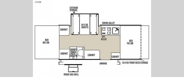 Rockwood Freedom Series 232XR Floorplan
