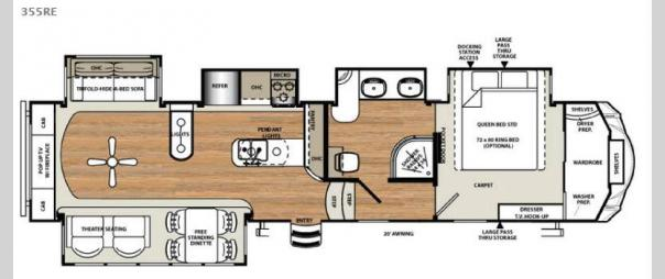 Sandpiper 355RE Floorplan